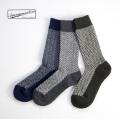 Anonymousism アノニマスイズム ウールヘリンボーン クルーソックス 日本製 靴下 メンズ