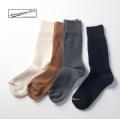 Anonymousism アノニマスイズム ピケクルーソックス 鹿の子 日本製 靴下 メンズ