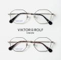 VIKTOR&ROLF ヴィクター&ロルフ チタン 多角形フレーム メガネ 度付き 伊達 70-0209