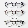 OWDEN オウデン BLACK BURN チタン ボストンフレーム 日本製 メガネ 度付き 伊達