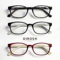 DIROSH ディロッシュ ウェリントン スクエア 軽量 メガネ 度付き 伊達メガネ