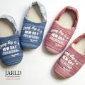 JARLD ジャールド 阿波しじら織り バンダナ バブーシュ NEWDAY スリッパ ルームシューズ おしゃれ 日本製 ブランド