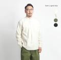 have a good day ハブアグッドデイ  バンドカラープルオーバー コットンフランネルシャツ 日本製 メンズ