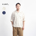 H.UNIT エイチユニット 60sペイズリープリント ドルマンスリーブ半袖シャツ 日本製 メンズ
