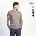 Harriss ハリス スーパーファインメリノ&カシミヤ クルーネックニット セーター メンズ