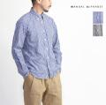 MANUAL ALPHABET マニュアルアルファベット GIZA88 100/2播州織ギンガムチェックシャツ ボタンダウン Suitable Fit 日本製 メンズ