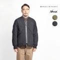 MANUAL ALPHABET NANGA マニュアルアルファベット ナンガ ノーカラー ダウンジャケット 日本製 メンズ