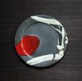 丹波焼 丹波立杭焼 丹文窯 黒白赤とばし リム皿S 取り皿 小皿 陶器 かわいい おしゃれ