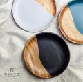 RINTO リント アカシアウッド ラウンドプレート M 木製 皿 中皿 食器 器 おしゃれ かわいい
