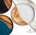 RINTO リント アカシアウッド ラウンドプレート L 木製 皿 大皿 食器 器 おしゃれ かわいい