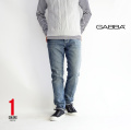 GABBA/ギャバ/REY/テーパードスリムストレッチデニムパンツ/0560/メンズ