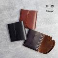 所作 shosa cp3.5 三つ折り財布 コンパクトウォレット 本革 レザー 日本製 メンズ レディース