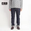 FOB FACTORY FOBファクトリー  GL3セルビッチデニムパンツ スリムテーパード 日本製 セットアップ対応 メンズ