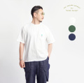 modem design モデムデザイン ドルマンスリーブ さがら刺繍&プリントTシャツ メンズ