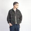 米軍 黒染めウッドランドカモ BDUジャケット リップストップ 迷彩柄 デッドストック メンズ