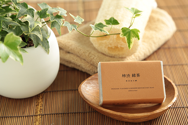 柿渋緑茶石鹸