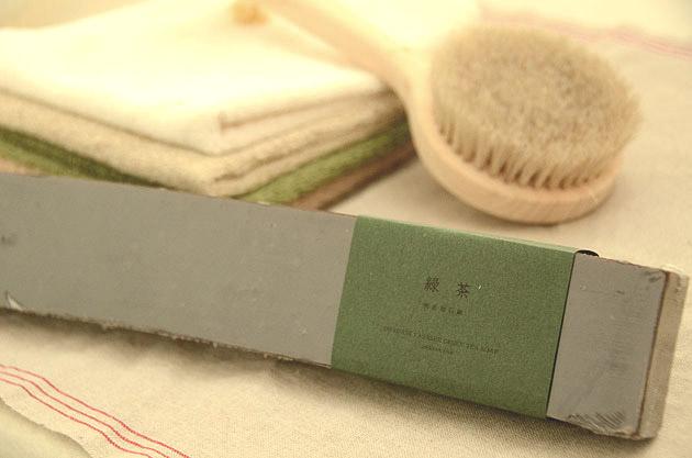 バータイプ 緑茶石鹸