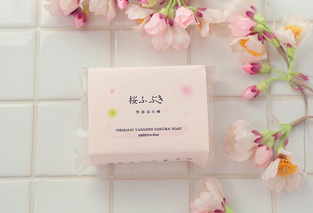 桜ふぶき石鹸
