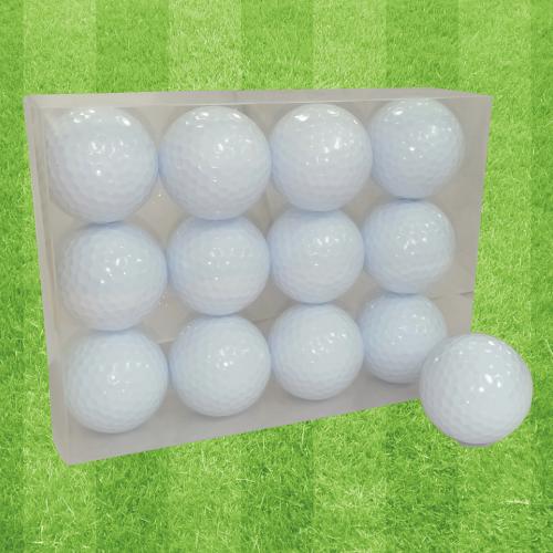 ゴルフボールオリジナル印刷 プリント専用無地ボール(12球入)4デザインまで【写真・ロゴ】