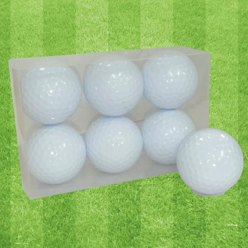 ゴルフボールオリジナル印刷 プリント専用白無地ボール(6球入)4デザインまで【フレーム】