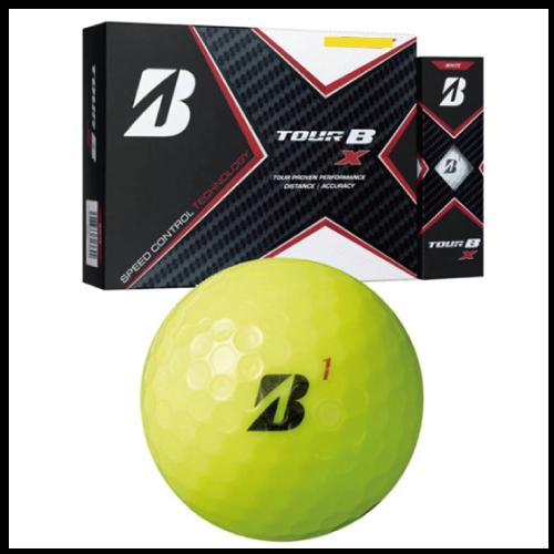【2020モデル】ゴルフボール印刷 ブリヂストンTOUR-B X ボールカラーイエロー 1ダース(12球入り)【4データ印刷】