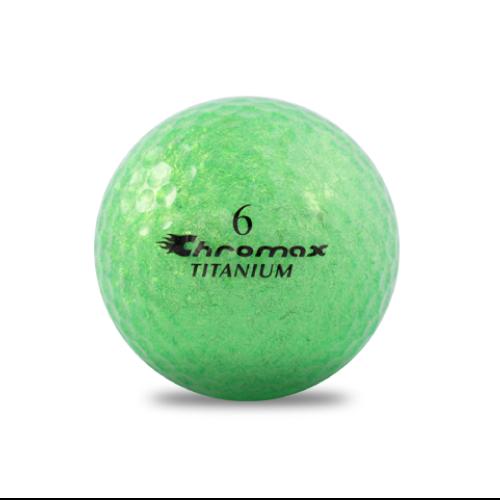 ゴルフボール印刷 クロマックス メタリック2 (ラメ グリーン) 1球 【当日出荷対象外】