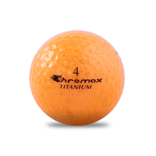 ゴルフボール印刷 クロマックス メタリック2 (ラメ オレンジ) 1球 【当日出荷対象外】