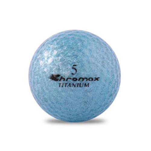 ゴルフボール印刷 クロマックス メタリック2 (ラメ ブルー) 1球 【当日出荷対象外】