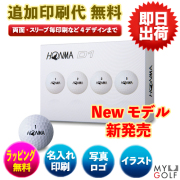 ゴルフボール文字印刷 HONMA D1 ホンマ ディーワン 1ダース(12球入り)