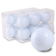 ゴルフボールオリジナル印刷 プリント専用無地ボール(12球入)4デザインまで【文字印刷】