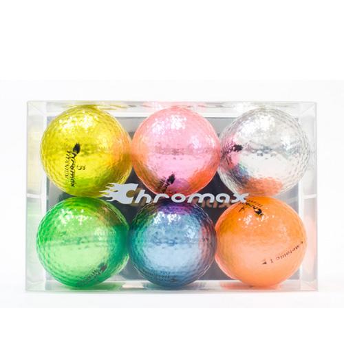 ゴルフボールオリジナル印刷 クロマックス メタリック1(6色セット)【文字印刷】