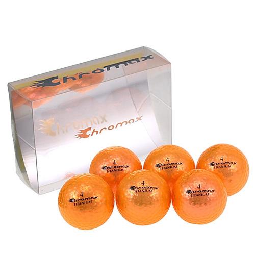 ゴルフボール名入れ印刷 クロマックス メタリック1(オレンジ)【ゴルフボール 名入れ 通販 イラスト 印刷 贈り物 ギフト プレゼント 当日出荷】
