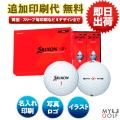 ゴルフボール印刷 ダンロップ スリクソンX 1ダース(12球入) 【名入れ】