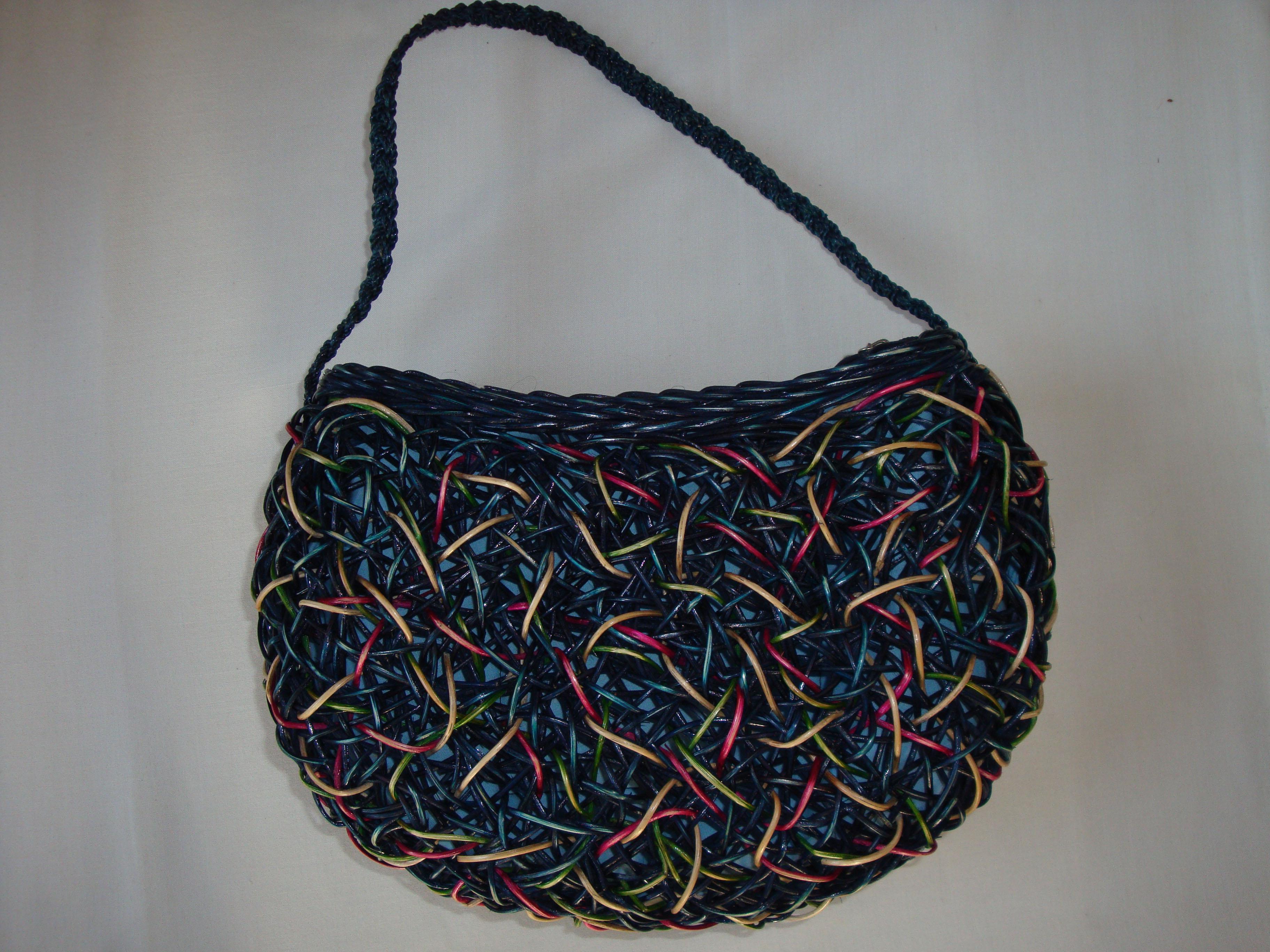 ラタンハンドバッグ鳥の巣状手編みハンドバッグ 爆安50%OFF後
