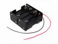 MSC-102 単三乾電池8本用ケーブル付き電池ボックス