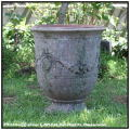 フランス 逸品 レトロ感 アンドゥーズ 高級感 古代調 古仕上げ 花束柄 テラコッタ鉢