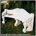 モンドラゴーネのベンチ ガーデン椅子 ベンチ イタリア製彫像 オーナメント 石像