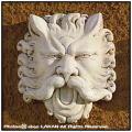 石像 サティロのマスク 石造 壁面 オブジェ イタリア製 レリーフ 洋風ガーデン パネル