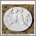 天使のレリーフ 壁面オブジェ 石造オブジェ 洋風ガーデンオブジェ 人工大理石製 レリーフシリーズ