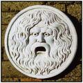 ウォールデコレートオブジェ  ガーデン 真実の口  石像 壁面オブジェ  置物 石造レリーフ