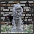 石像オーナメント  エステ家 石造オーナメント  ガーデンオブジェ ライオン坐像  イタリア彫刻 人工大理石