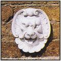 ウォールデコレートオブジェ  壁面装飾 置物 ガーデン  ライオンマスクC 石像 蛇口  壁面オブジェ 石造レリーフ