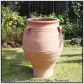 ギリシア クレタ島 テラコッタ鉢 ハンドメイド オブジェ ピサーリ  耳付 大型壺