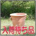 輸入植木鉢 メリッソフラスカ ハンドメイド ガーデンプランター 花鉢 人気 ギリシア クレタ島 両手付ポット