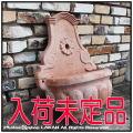 稀有 オブジェ イタルガーデン 壁泉 テラコッタ製 噴水 花鉢 壁掛け鉢 素焼き ガーデン置物