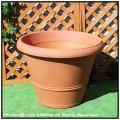 クエンカ鉢 マルキオーロ社 高級輸入樹脂植木鉢 ベーシックデザイン バケツ型 ポリエステル樹脂製  人気 キャスター