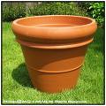 デローマ社  リムポット52  テラコッタ鉢  大型輸入植木鉢  トスカーナ  素焼き陶器鉢