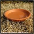 受け皿 トレートスカーナ  テラコッタ製 適合 受皿 ピアット 陶器  ポットソーサー