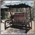 デラックス スウィング ラブベンチ 屋外家具 インドネシア チーク製
