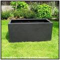 キンロス鉢 マットブラック ブラックアイロンライト グラスファイバー製 艶消し黒 高級輸入樹脂鉢 軽量 シンプル
